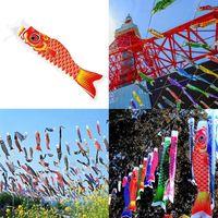 Cartoon-Fisch bunt Windsack Flagge Haude japanische Karpfen-Windsack Fisch-Flagge Koinobori Windsocke Schwarz Drachen 70 cm Karpfen