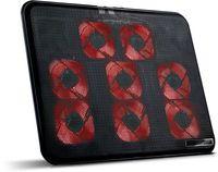 SK-S600 Notebook Laptop Kühler   8 x LED Lüfter   2 x USB   Schwarz