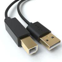 JAMEGA – USB Druckerkabel 2m   Scannerkabel USB B Kabel USB A auf USB B Drucker Kabel für HP, Canon, Dell, Epson, Lexmark, Brother, Samsung, Xerox uvm – Vergoldete Kontakte