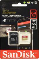 Sandisk Micro SDXC Karte 64GB Speicherkarte Extreme UHS-I U3 4K 160 MB/s V30 A2 Class 10