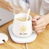 USB Kaffeetasse Pad Metall Heizung Untersetzer Büro Konstante Temperatur Wasser Tassenwärmer Heizkissen Heizunterseite Isolierunterlage