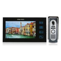 OWSOO 7-Zoll-Farb-Video-Türsprechanlage Türklingel Intercom Kit Touchscreen Wasserdichte Außenkamera Innenmonitor Nachtsicht Home Security, SY806M11