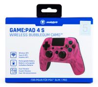 Snakebyte PS4 wireless Game Pad 4S in Bubblegum Camo