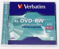 Verbatim DVD-RW 4.7GB DVD-RW, 4,7 GB, 120 min