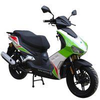 ALPHA MOTORS Motorroller »Mustang FI«, 50 ccm, 45 km/h, Euro 4, grün-weiß-rot, Einspritzung