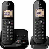 Panasonic DECT KX-TGC422, Anrufbeantworter, Strahlungsarm, Farbe: Schwarz