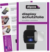 6x FitBit Versa 2 Schutzfolie klar Displayschutzfolie Folie Display Schutz dipos