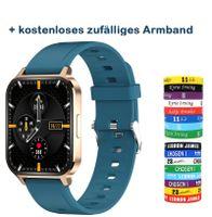 2021 Neue Ciskotu Q18 Smartwatch 1,75 Zoll Voll-Touchscreen DIY Dial Blutdruck EKG Herzfrequenz Smartwatch Grün