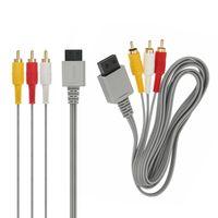 AV Kabel für Nintendo Wii & U TV Audio Kabel1,8m Video Scart Cinch RVL-009 3-RCA