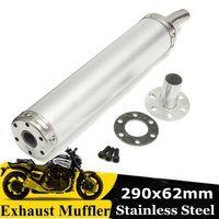 Universal Motorrad Auspuff Schalldämpfer Edelstahl Für Street Scooter 290x62mm
