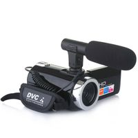 4K 1080P HD Digitalkamera Digitale Videokamera DV mit Mikrofon-Schwarz