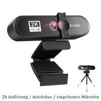 Autofokus Webcam Webkamera PC ,Maximale Auflösung: 2592x1944 , USB-Kamera Webkamera Webcam Full Hd( mit Eingebautes Mikrophon)