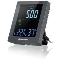 BRESSER CO2-Luftqualitätsmonitor Smile mit CO2-Ampel Farbe: grau