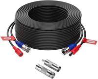 ZOSI 18,3 Meter 2in1 BNC Video Kabel DC Power Verlängerungskabel mit BNC RCA Adapter für Überwachungskamera DVR System