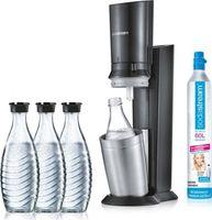 SodaStream Crystal 2.0 Aktionspack Wassersprudler, Titan, mit 3 Karaffen