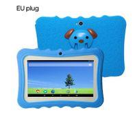 """7 """"Kinder Tablet PC 8 GB Quad-Core-Wi-Fi-Tablet-PC-Pad mit stossfestem Silikon-Schutzhuelle fuer Kinder Paedagogisches Geschenk tablet für kinder EU-Stecker [Blau]"""