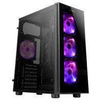 Antec NX210 - Midi Tower - PC - Kunststoff - SPCC - Gehärtetes Glas - Schwarz - ATX,ITX,Micro ATX -  Antec