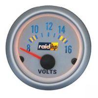 raid hp Zusatz Instrument Voltmeter Volt Silver-Line