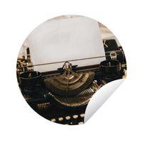 Gartenposter Rund - Schwarze Vintage-Schreibmaschine - Ø 150 cm
