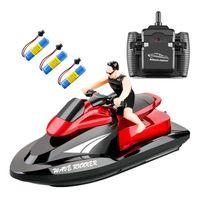 Fernbedienung Boot Pool Spielzeug 8 Jahre alten Jungen rote 3 Batterie