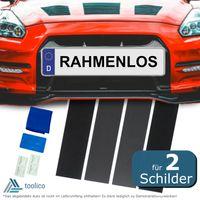 Kennzeichenhalter rahmenlos - Nummernschildhalterung Auto - für 2 Kennzeichen
