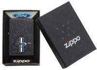 ZIPPO ® Feuerzeug 60004843 FORD Mustang Horse & Bars black matte