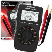 Kraftmax Profi Batterietester XT1 Revolution V3 Akku Batterie Tester der neusten Generation - Testgerät inkl. Innenwiderstand Test