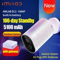 Globale Version Xiaomi IMILAB EC2 Smart IP-Kamera CMSXJ11A Gateway 1080P H.264 5100mAh Batterie AI Humanoid Detection APP-Steuerung IP66 Wireless Home Security-Aussenkamera mit Gateway
