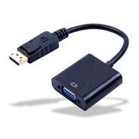 HD Display Port DP Stecker auf Zu VGA Buchse Adapter Konverter Kabel DisplayPort