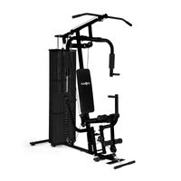 Klarfit Ultimate Gym 3000 Kraftstation - multifunktionale Fitnessstation, Trainingsstation, Ganzkörpertraining, 30 unterschiedliche Übungen, inkl. Gewichten, schwarz