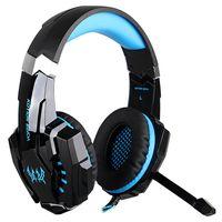 KOTION EACH G9000 3,5-mm-Gaming-Kopfhoerer Stereo-Game-Headset Noise Cancellation-Kopfhoerer,Schwarz-blau