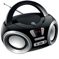 Radio Kinderradio Stereoanlage Musikbox USB CD-Player tragbar Boombox AUX-In