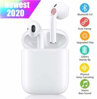 I11 TWS Bluetooth-Kopfhörer V5.0, Drahtlose Kopfhörer Touch Noise Cancelling 3D IPX7 Wasserdichte Stereo-Kopfhörer Eingebautes Mikrofon und Kopfhörer-Ladekoffer, für Apple / iPhone / Android / AirPods Pro
