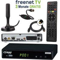 Comag SL65T2 DVB-T2 Receiver (3 Monate FREENET TV) + DVB-T2 Antenne + HDMI Kabel, HDTV, PVR Ready, HD USB Mediaplayer, HDMI & SCART Ausgang, schwarz