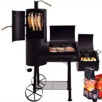 Syntrox Smoker Doppel Barbecue Grill  mit Räucherofen Holzkohlegrill