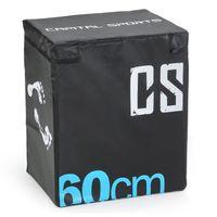 CAPITAL SPORTS Rooksy Soft Jump Box Weichboden Matte Plyo Box (60x50x30 cm, für plyometrisches Sprung- und Cross-Training, stabile Innenbox aus Holz, Vinyl-Cover) schwarz