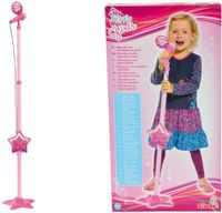 Standmikrofon Höhenv.85-115cm pink MP3