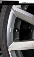 Audi Original Ventilkappen, für Gummi- und Stahlventile, Satz mit 4 Stück, ohne Ventile