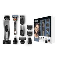 Braun 10-in-1 Trimmer MGK7021, für Bart, Kopf & Körper, mit AutoSense-Technologie, Präzisionsscherkopf und Präzisionstrimmer, Schwarz/Grau