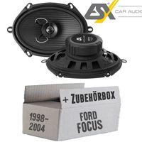 Lautsprecher Boxen ESX HZ572 | 13 x 18 cm (5x7er) | 2-Wege Koax  Oval | HORIZON HZ 572 | Auto Einbauzubehör - Einbauset für Ford Focus 1 Front Heck - justSOUND
