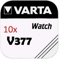 10 x VARTA Knopfzellen 377 SR626SW V377 AG 4 einzeln verpackt