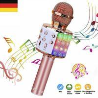 Bluetooth Karaoke Mikrofon Tragbares Handmikrofon für Kinder und Erwachsene
