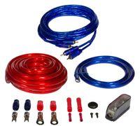 CRUNCH CRK25 Anschlusskabelkit Stromkabel Blau/Rot 5 m für Verstärker