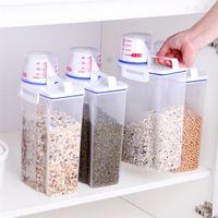4x Getreidespender Lebensmittel Reis Lagerung Mehl Nüsse Behälterglas Messbecher