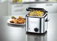 Mini Fritteuse  1,2 Liter max. 190°C  Single Friteuse  840 W  Frittierkorb