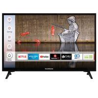 Techwood H24T52E 24 Zoll Fernseher (Smart TV inkl. Prime Video / Netflix / YouTube, HD ready, Works with Alexa, Triple-Tuner) [Modelljahr 2020]