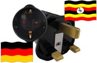 Urlaubsstecker Uganda für Geräte aus Deutschland
