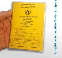10Pack Schutzhülle Hülle für den neuen Impfpass Impfbuch internationale Impfbescheinigung Impfausweis für Kinder und Erwachsene (93 mm x 130 mm) glasklar