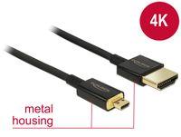 Delock Kabel HDMI A Stecker > HDMI Micro D Stecker 3D 4K 2 m