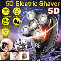 5D USB Herren Elektrorasierer Schädelrasierer Rasiere für Gesicht Kopf Glatze